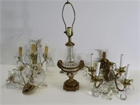 2 Pairs Of Gilt Metal Sconces And A Bronze