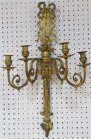 Pair Or Antique Gilt Bronze Sconces