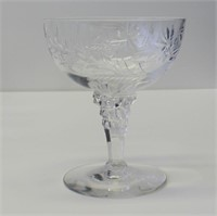 Grouping of Deco Etched Crystal Glasses