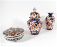 Grouping of 3 Pieces of Japanese Imari.