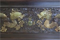 A Magnificent Jade Inlaid Compound Cabinet.