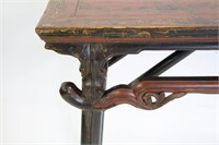 Lacquered Chinese Folding Table.