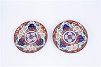 Large Imari Transferware Charger and Two Plates.