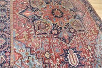 Large Antique And Finely Hand Woven Heriz Carpet.
