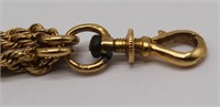 JEWELRY. French 18kt Gold Watch Fob with Slide