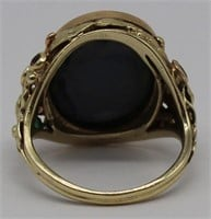 JEWELRY. 14kt Gold, Opal and Colored Gem Ring.