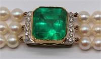 JEWELRY. GIA 22.39 Colombian Emerald, 5202508511.