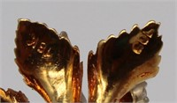 JEWELRY. Pair of Signed 18kt Gold and Diamond