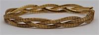 JEWELRY. Italian 18kt Gold Woven Bracelet.