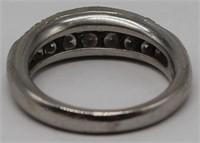 JEWELRY. Platinum and Diamond Ring.