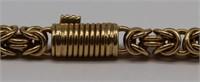 JEWELRY. Byzantine Link 18kt Gold Necklace.