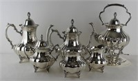 STERLING. Poole Sterling 6 Pc. Tea Service & Tray.