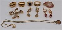 JEWELRY. Assorted Gold Jewelry.