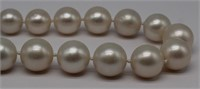 JEWELRY. South Sea Pearl and Diamond Necklace.