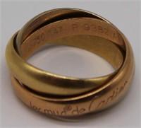 JEWELRY. Les Must de Cartier 18kt Trinity Ring.