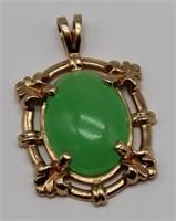 JEWELRY. GIA Jadeite Jade Pendant, No. 6207508292