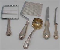 STERLING. Large Grouping of Hollow Ware & Flatware