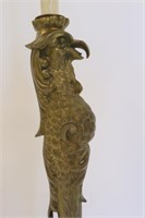 PIERRE EMMANUEL GUERIN. Brass Ostrich Leg Lamp