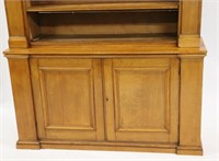 19th Century Pine Open Front Step Back Cabinet.
