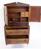 Empire Mahogany Secretary / Bookcase.