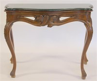 Antique Carved Italian Marbletop Console.
