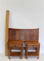 E.J. Stickley Audi Bed And Side Chests.