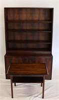 MIDCENTURY. Rosewood 2 Piece Cabinet / Vitrine