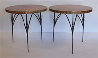 Pair of Modern Cooper End Tables.