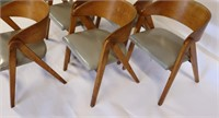MIDCENTURY. Set Of 6 Compass Chairs By Alan Gould.
