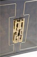 Mastercraft Vintage Brass Mounted Credenza.