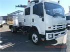 2013 Isuzu FSS 500 4x4 Crew Crane Truck