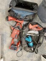 Qty of Milwaukee & Makita Tools