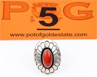 Jewelry Sterling Silver Coral Jackson Ring