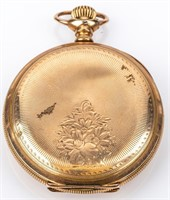 Antique Hampden Hunter Case 17 Jewel Pocket Watch