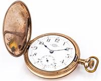Antique Buren 15 Jewel Hunter Case Pocket Watch
