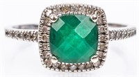 Jewelry 10kt White Gold Gemstone Cocktail Ring