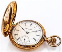 Antique Hampden Hunter Case 15 Jewel Pocket Watch