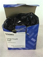Solimo large trash bags 50 bags 30gal.