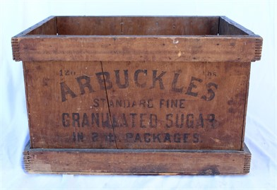 Antique Arbuckles Sugar Advertising Wood Crate Other Items