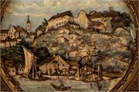 Art Vintage Wilhelm Schiller & Sons Wall Plaque