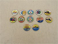 Group of Colorized Statehood Quarters-