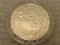 1991 Mount Rushmore U.S. Mint Commemorative Coin-