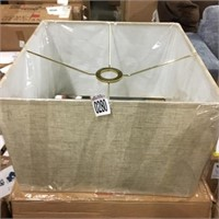 """LINEN SQUAREW LAMP WITH SHADE APROXIMATELY 16""""X10"""""""