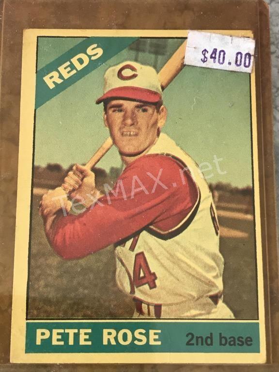 1966 Topps 30 Pete Rose Baseball Card Texmax Auctions Llc