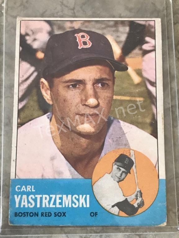 1963 Carl Yastrzemski Topps 115 Baseball Card Texmax