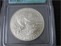 1991-95 World War $1 Silver Comm. Coin - MS70-