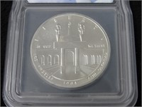1984-P Olympics $1 Silver Comm Coin - MS70-