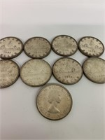 Lot of 1950-60's Canada Silver Dollars
