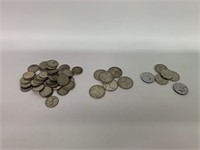 Lot of Silver CDN 25C-10C and 5C Coins