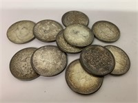 Lot of Silver CDN 50 Cent Coins